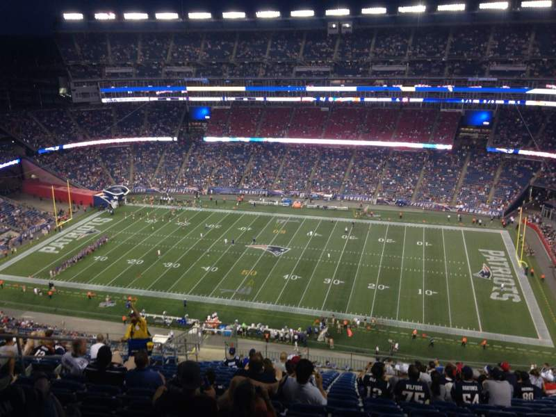 Seating view for Gillette Stadium Section 329 Row 25 Seat 17