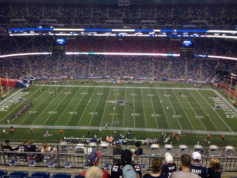 Seating view for Gillette Stadium Section 331 Row 13 Seat 13