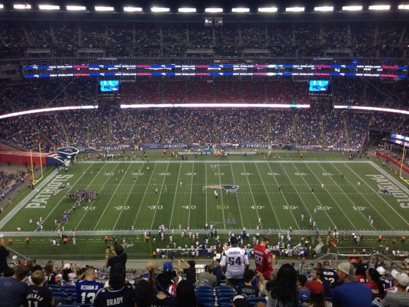 Seating view for Gillette Stadium Section 332 Row 20 Seat 10