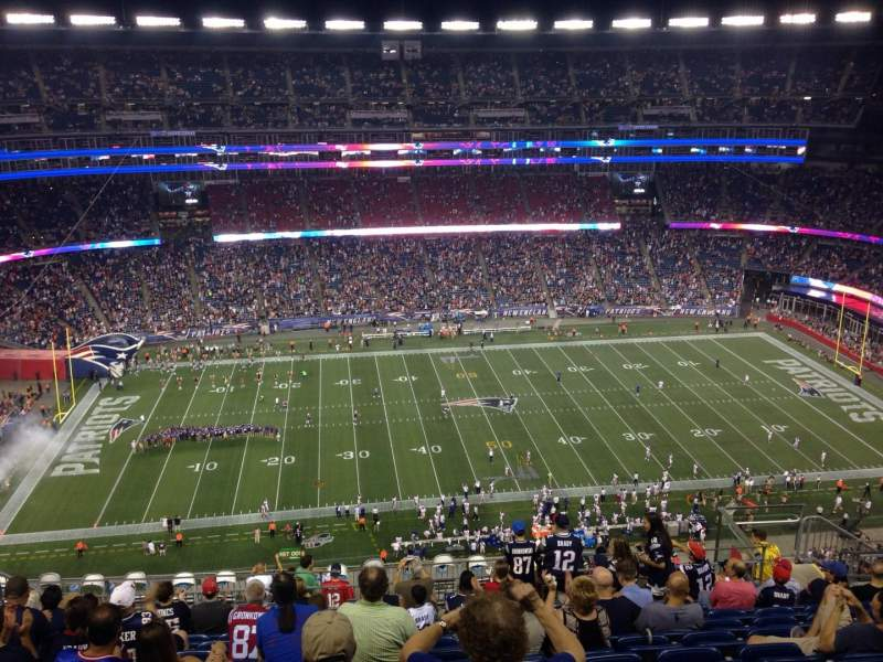 Seating view for Gillette Stadium Section 333 Row 33 Seat 12