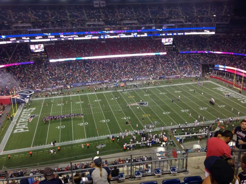 Seating view for Gillette Stadium Section 334 Row 13 Seat 5