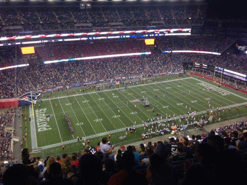 Seating view for Gillette Stadium Section 335 Row 25 Seat 20