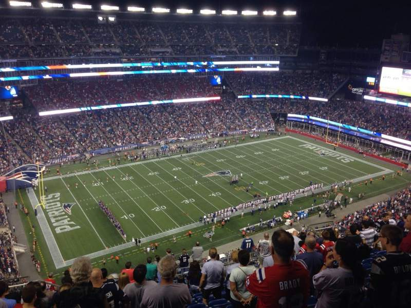 Seating view for Gillette Stadium Section 336 Row 21 Seat 20