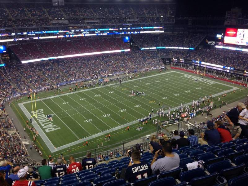 Seating view for Gillette Stadium Section 337 Row 17 Seat 12