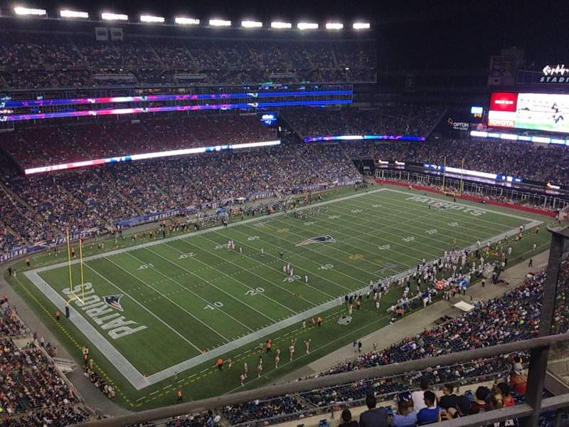 Seating view for Gillette Stadium Section 338 Row 9 Seat 6