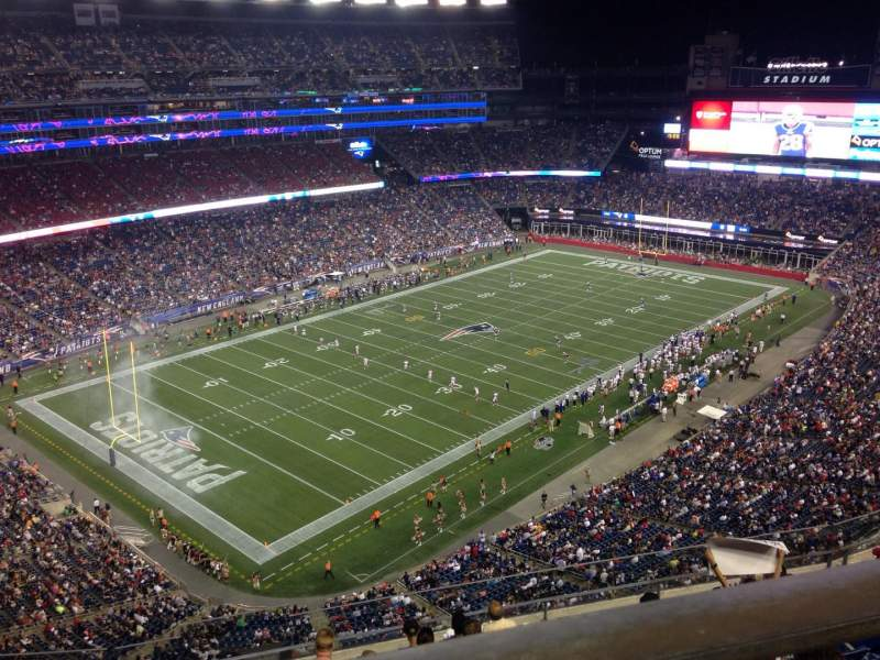 Seating view for Gillette Stadium Section 339 Row 8 Seat 5
