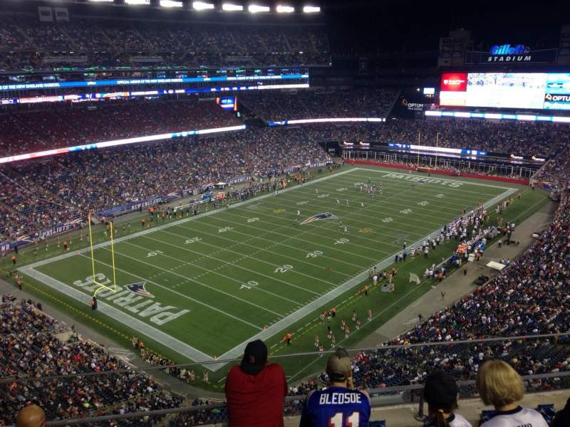 Seating view for Gillette Stadium Section 340 Row 5 Seat 16
