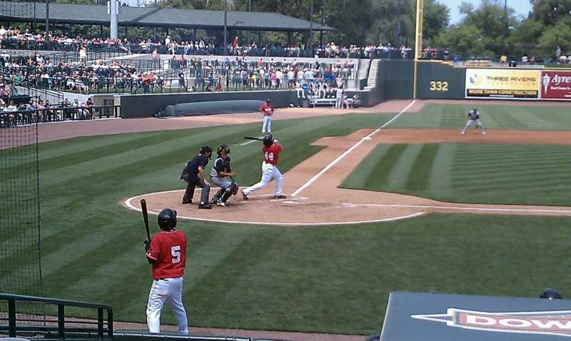 Seating view for Dow Diamond Section 103 Row 16 Seat 4