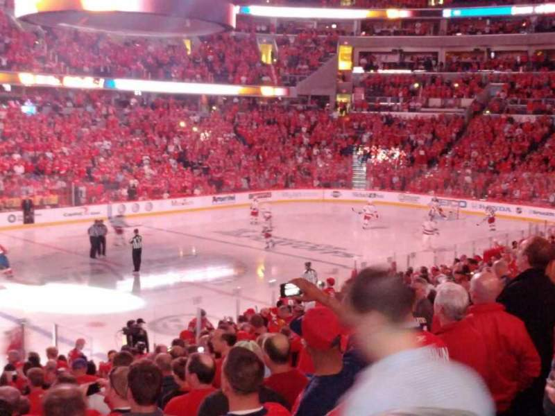 Seating view for Verizon Center Section 120 Row S Seat 18