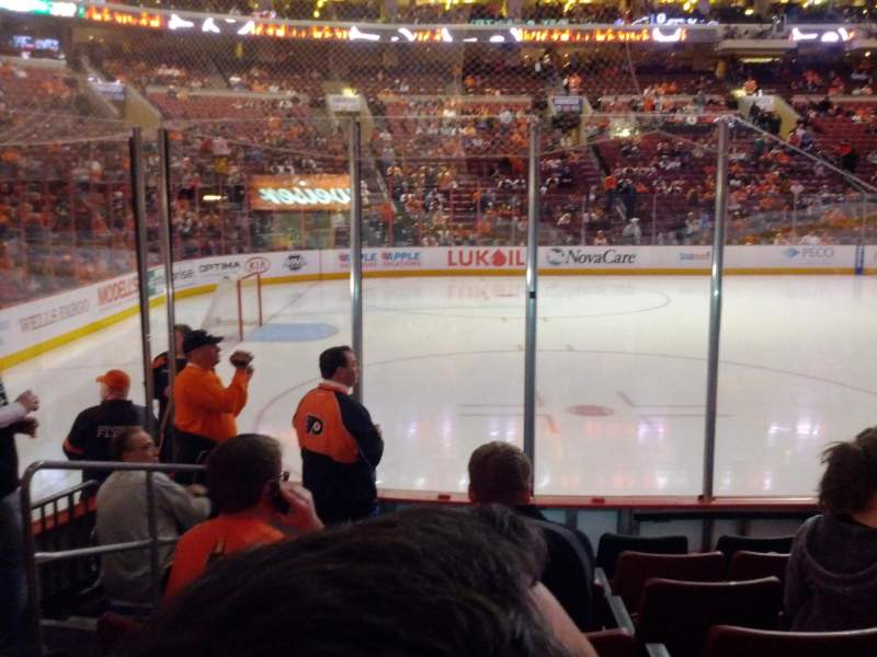 Seating view for Wells Fargo Center Section 123 Row 7 Seat 3