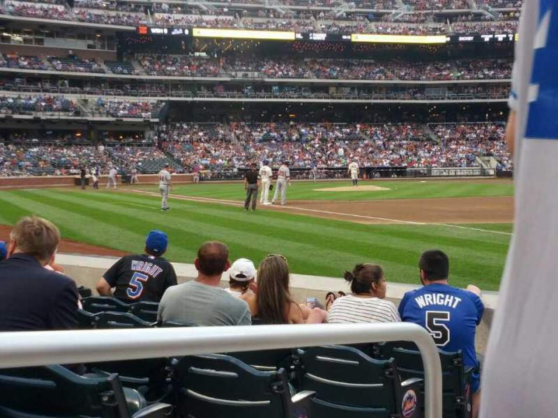Seating view for Citi Field Section 109 Row 1 Seat 1
