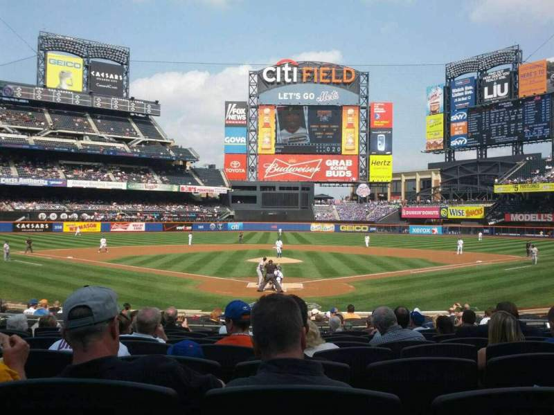 Seating view for Citi Field Section 15 Row 18 Seat 10