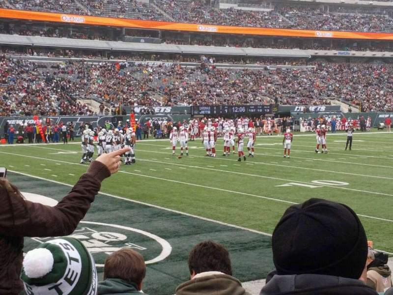 Seating view for MetLife Stadium Section 121 Row 4 Seat 4