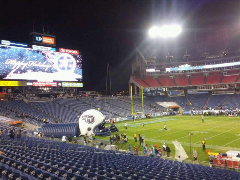 Seating view for Nissan Stadium Section 136 Row J Seat 1