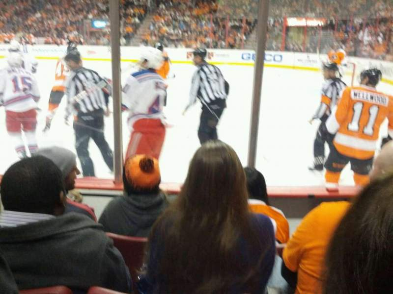 Seating view for Wells Fargo Center Section 115 Row 3 Seat 10