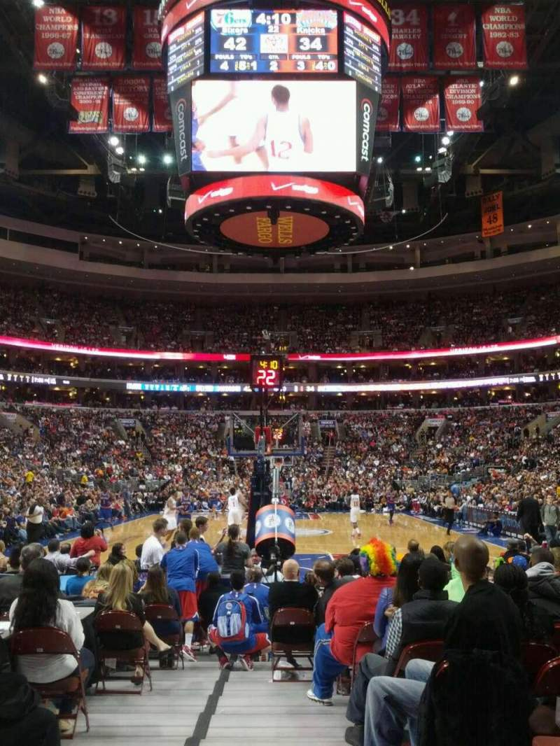 Seating view for Wells Fargo Center Section 119 Row 2 Seat 5