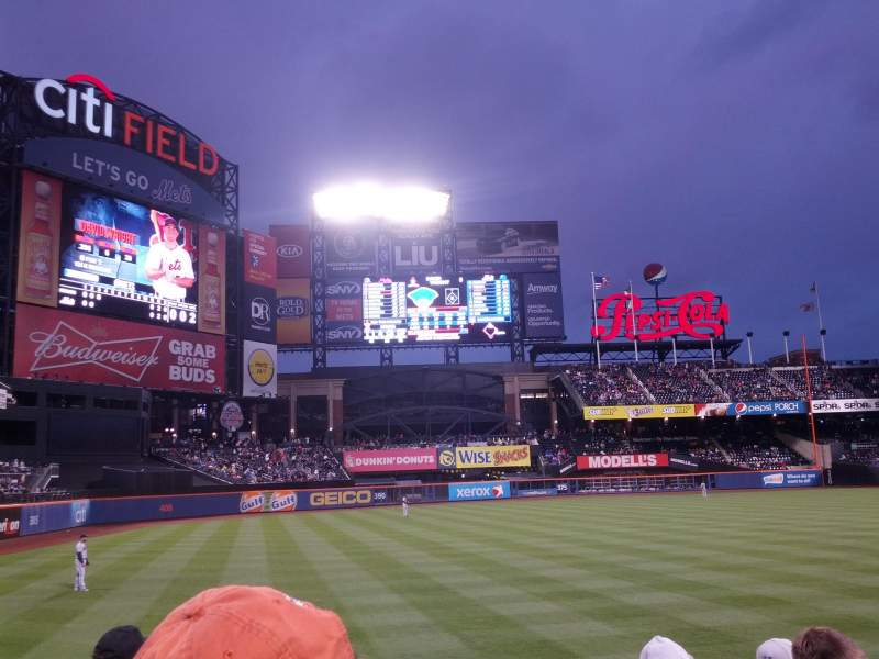 Seating view for Citi Field Section 129 Row 5 Seat 1