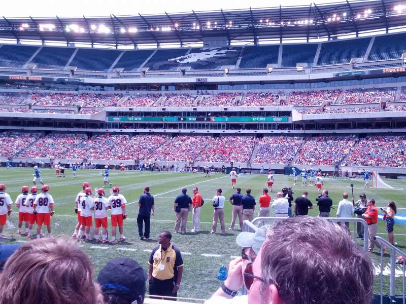 Seating view for Lincoln Financial Field Section 122 Row 3 Seat 1