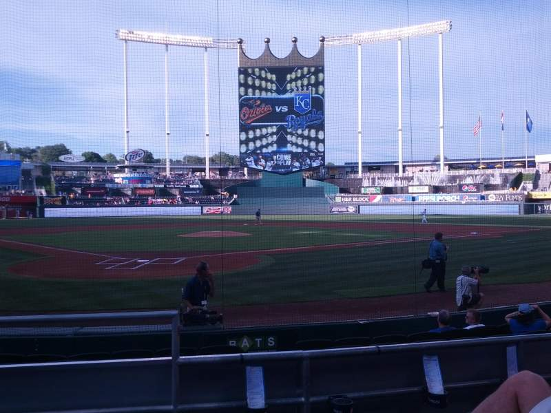 Seating view for Kauffman Stadium Section 129 Row D Seat 1