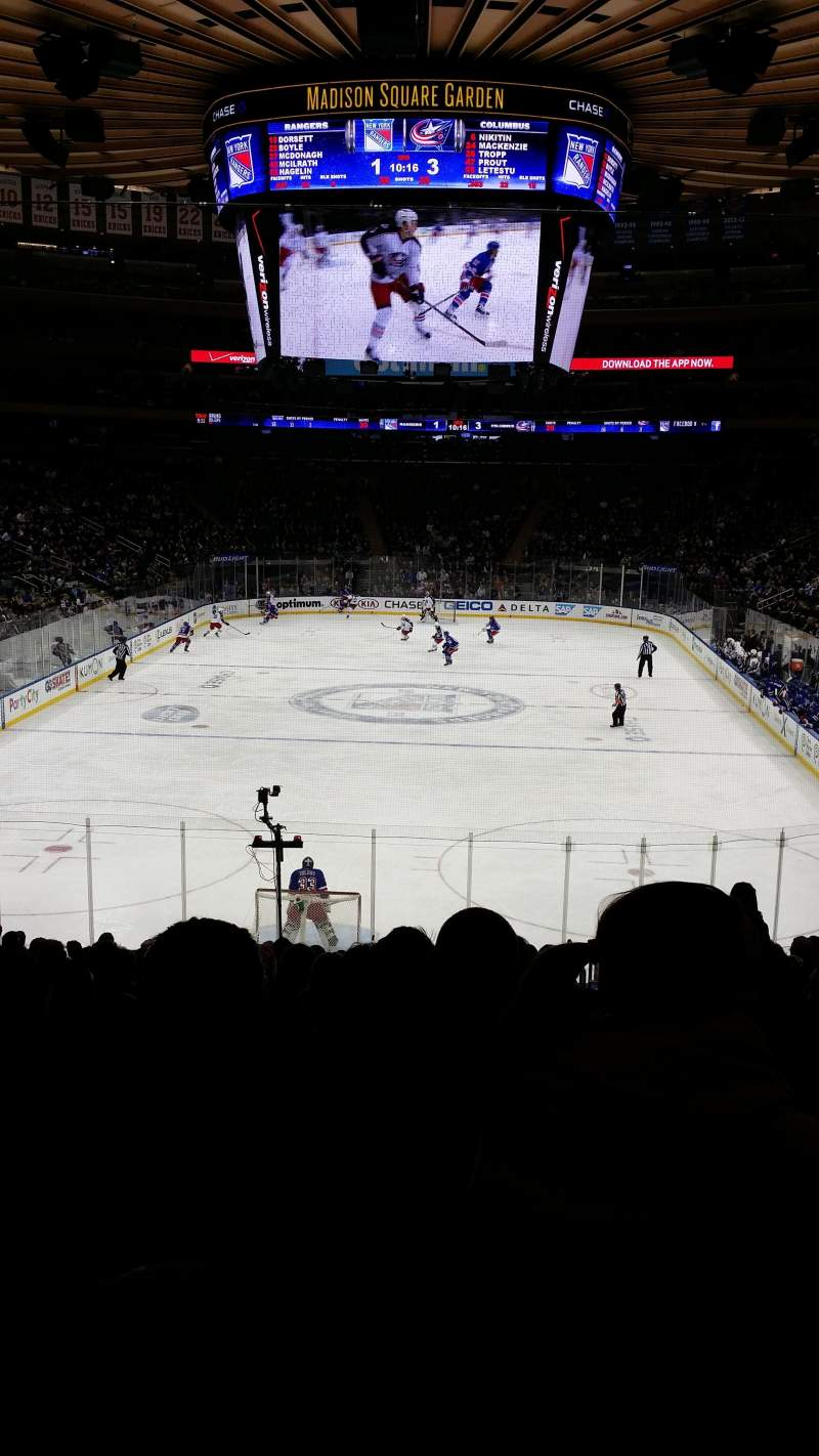 Seating view for Madison Square Garden Section 102 Row 19 Seat 19