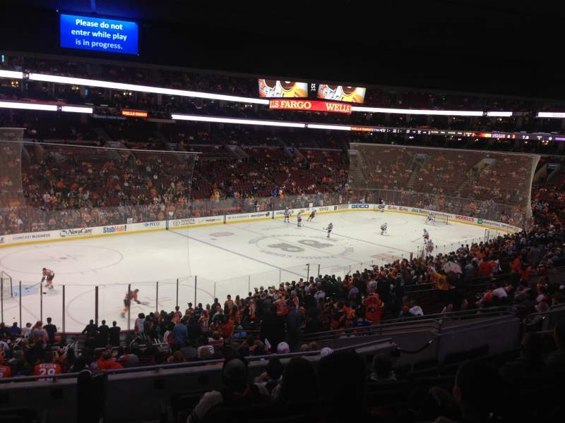 Seating view for Wells Fargo Center Section Club Box 22 Row 1 Seat 1