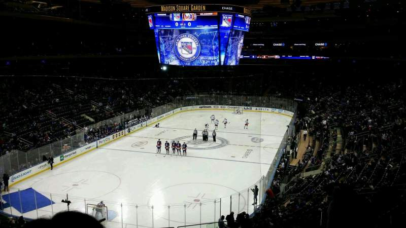 Seating view for Madison Square Garden Section 219 Row 4 Seat 10