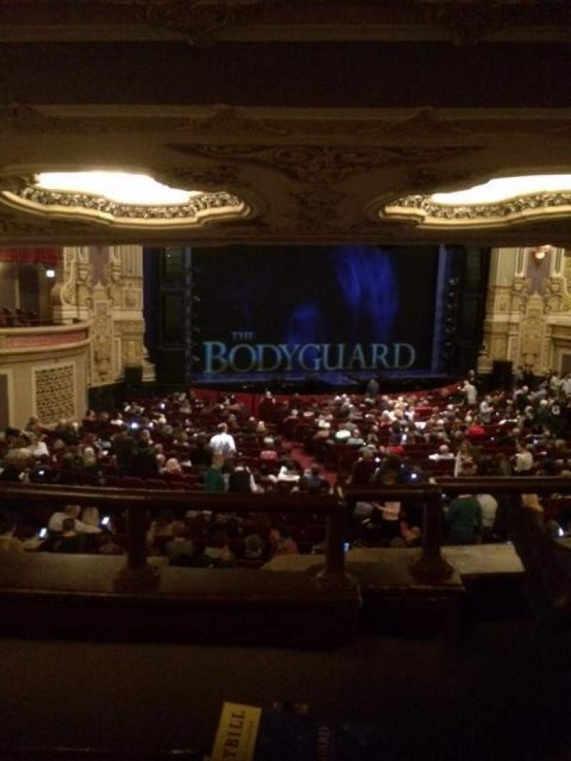 Seating view for Nederlander Theatre (Chicago) Section Dress Circle LC Row B Seat 247