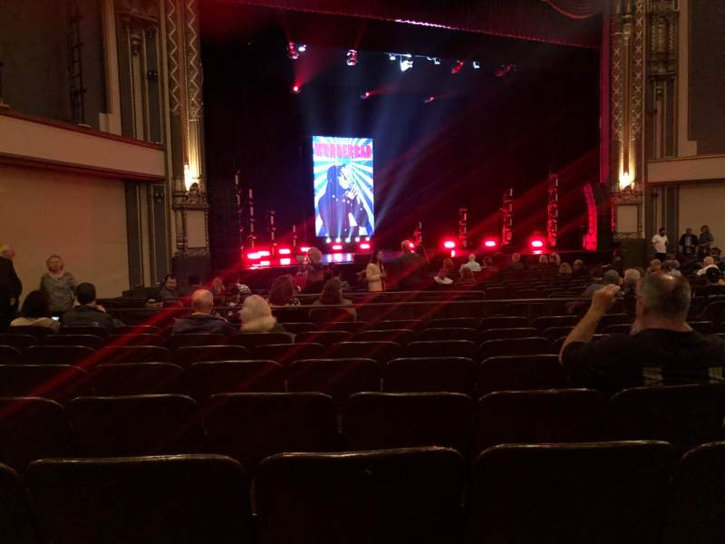 Seating view for Golden Gate Theatre Section Orch Row R Seat 21