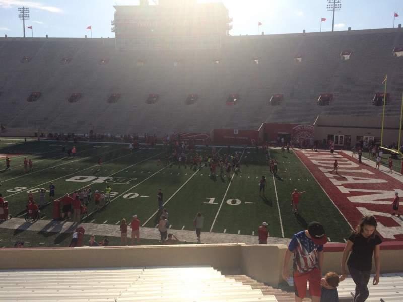 Memorial Stadium (Indiana), section: 23, row: 24, seat: 3