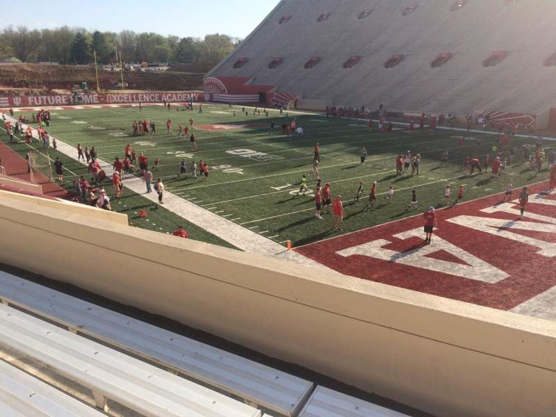 Seating view for Memorial Stadium (Indiana) Section 21 Row 24 Seat 3