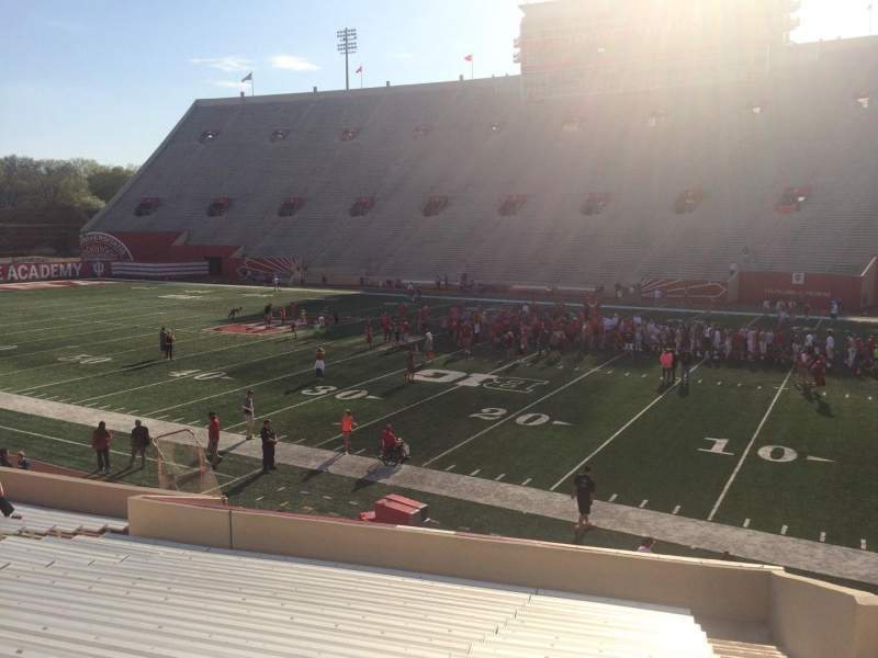 Memorial Stadium (Indiana), section: 24, row: 24, seat: 3