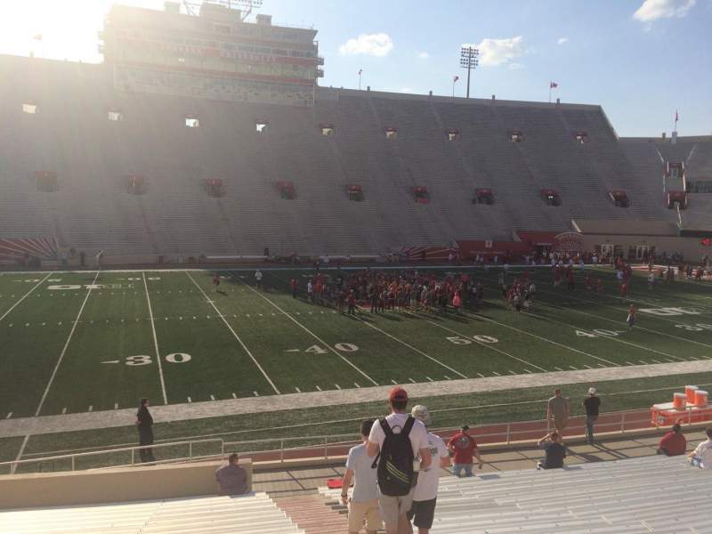 Seating view for Memorial Stadium (Indiana) Section 27 Row 24 Seat 103