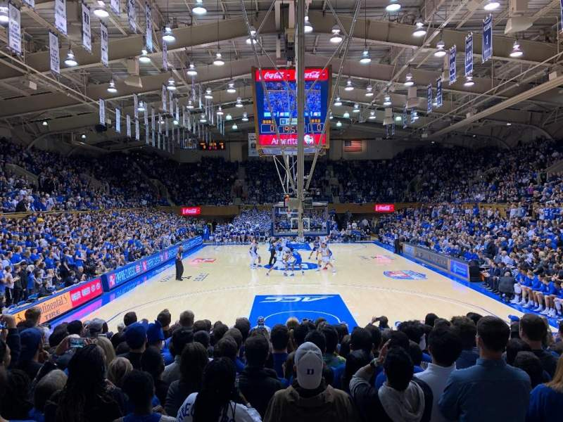 Seating view for Cameron Indoor Stadium Section 2 Row A Seat 21
