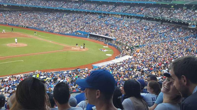 Seating view for Rogers Centre Section 232R Row 7 Seat 6