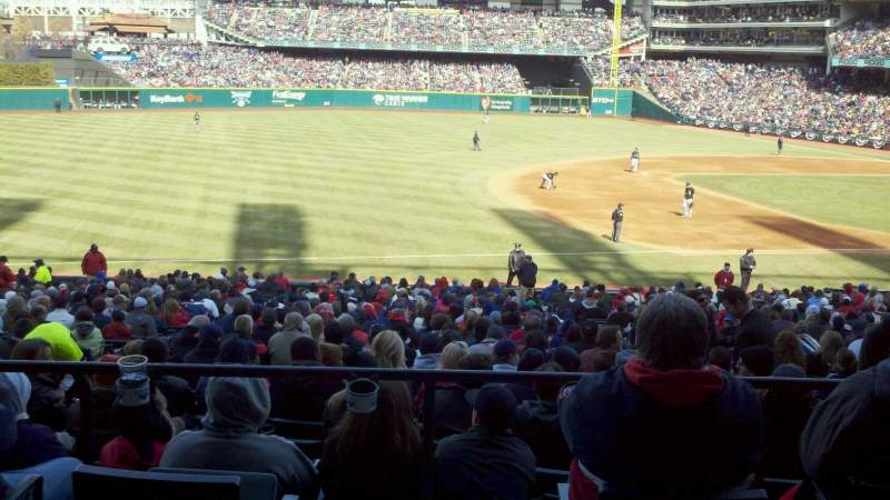 Seating view for Progressive Field Section 267 Row A Seat 19