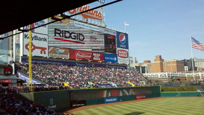 Seating view for Progressive Field Section 267 Row A Seat 20