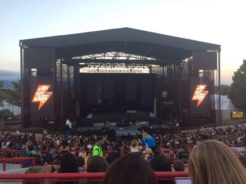 Seating view for Irvine Meadows Amphitheatre Section LOGE 6 Row BB Seat 627