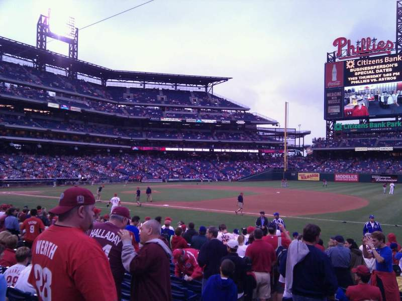 Seating view for Citizens Bank Park Section 113 Row 15 Seat 13