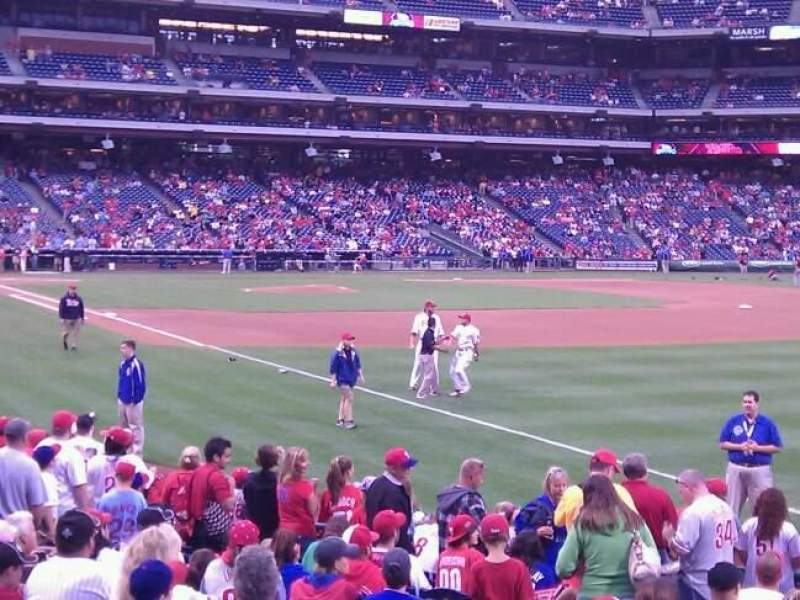 Seating view for Citizens Bank Park Section 109 Row 16 Seat 15