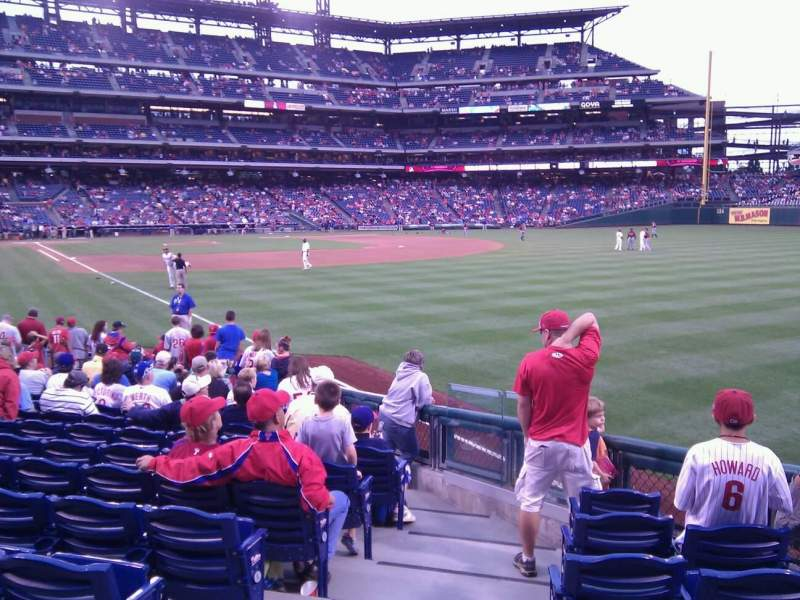 Seating view for Citizens Bank Park Section 108 Row 17 Seat 18