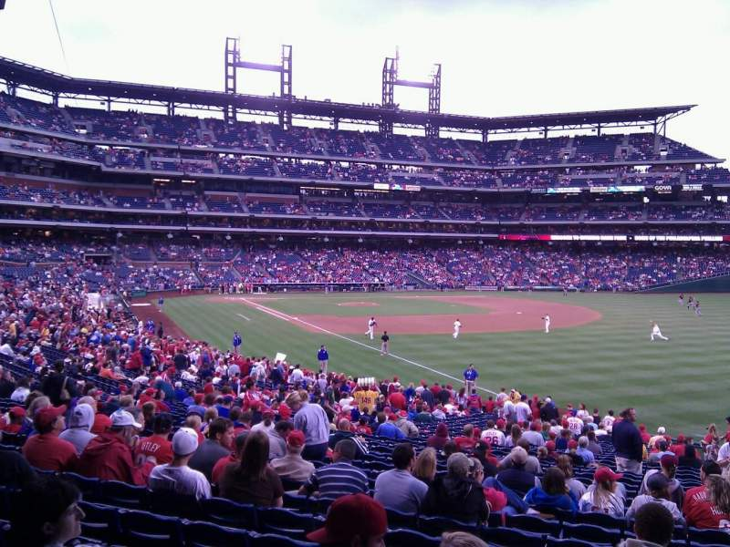 Seating view for Citizens Bank Park Section 109 Row 36 Seat 1