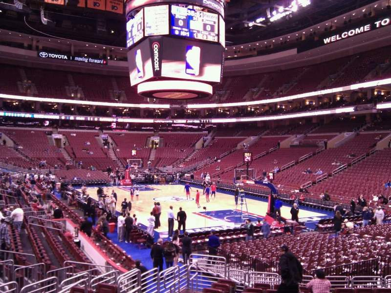 Seating view for Wells Fargo Center Section 105 Row 14 Seat 5