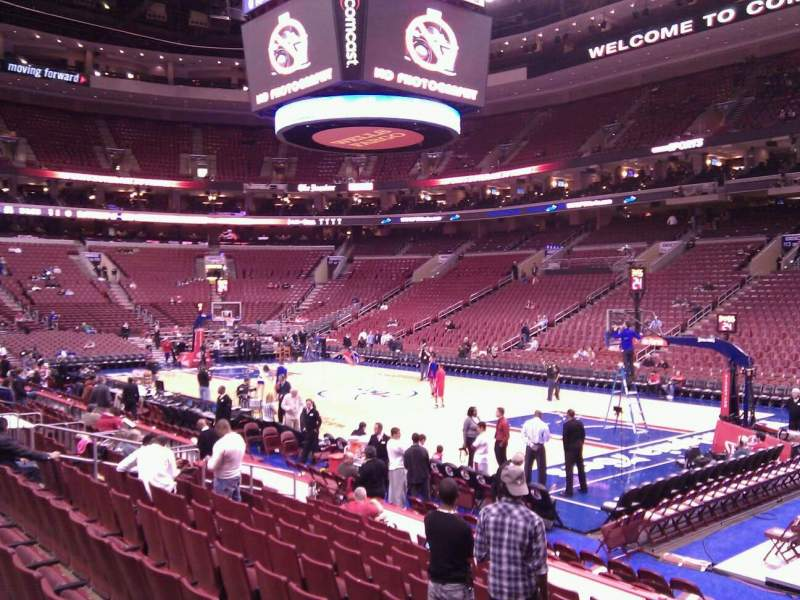 Seating view for Wells Fargo Center Section 104 Row 11 Seat 1