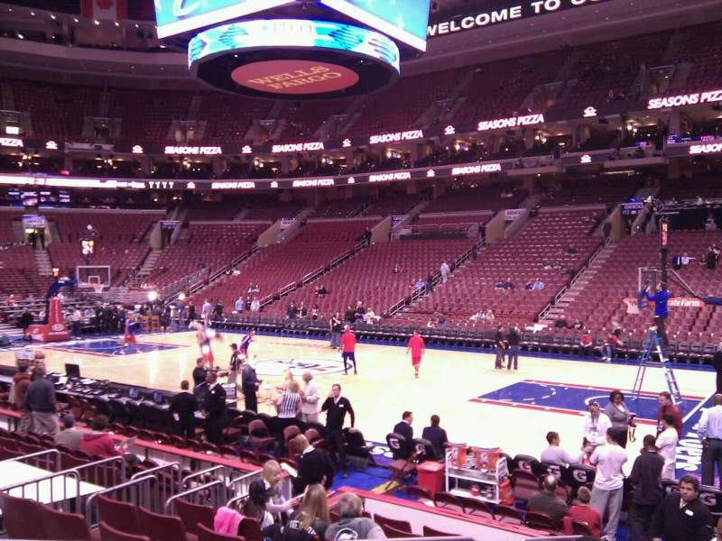 Seating view for Wells Fargo Center Section 103 Row 10 Seat 4