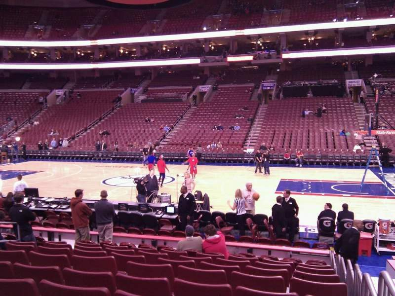 Seating view for Wells Fargo Center Section 102 Row 11 Seat 11