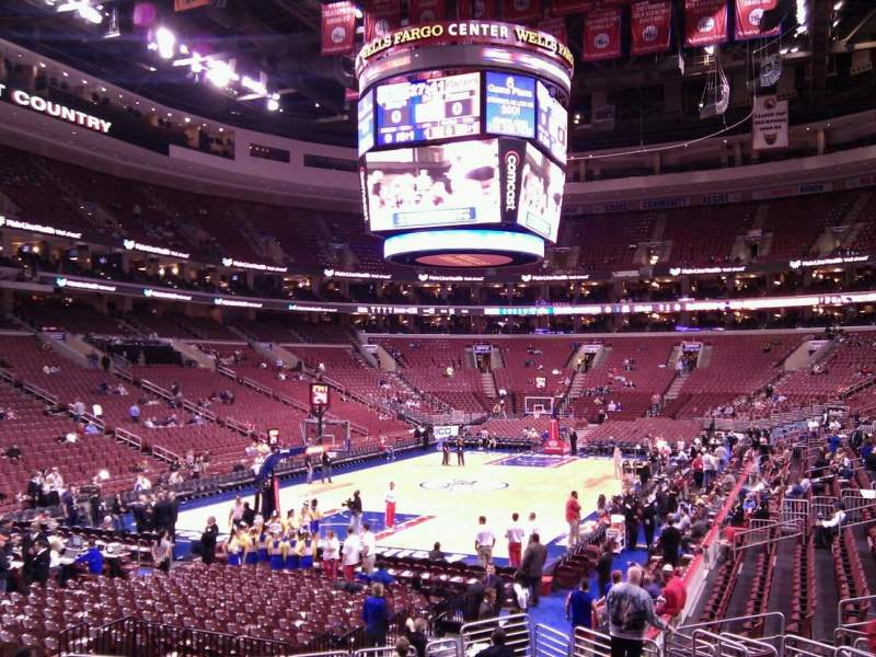 Seating view for Wells Fargo Center Section 121 Row 15 Seat 4