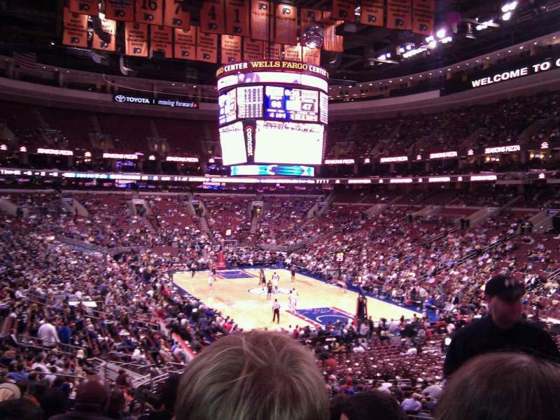 Seating view for Wells Fargo Center Section 105 Row 26 Seat 22