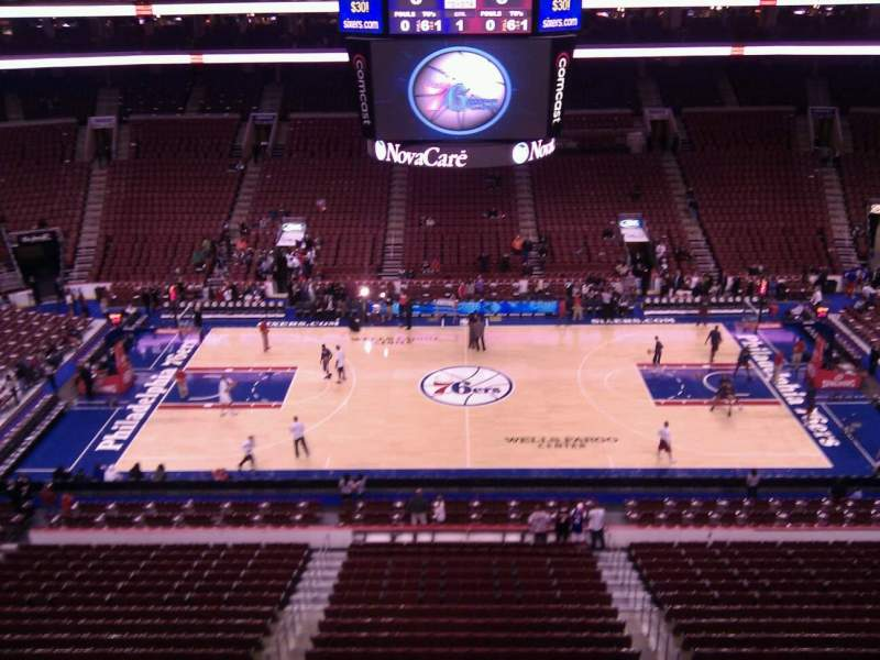 Seating view for Wells Fargo Center Section 213 Row 2 Seat 7