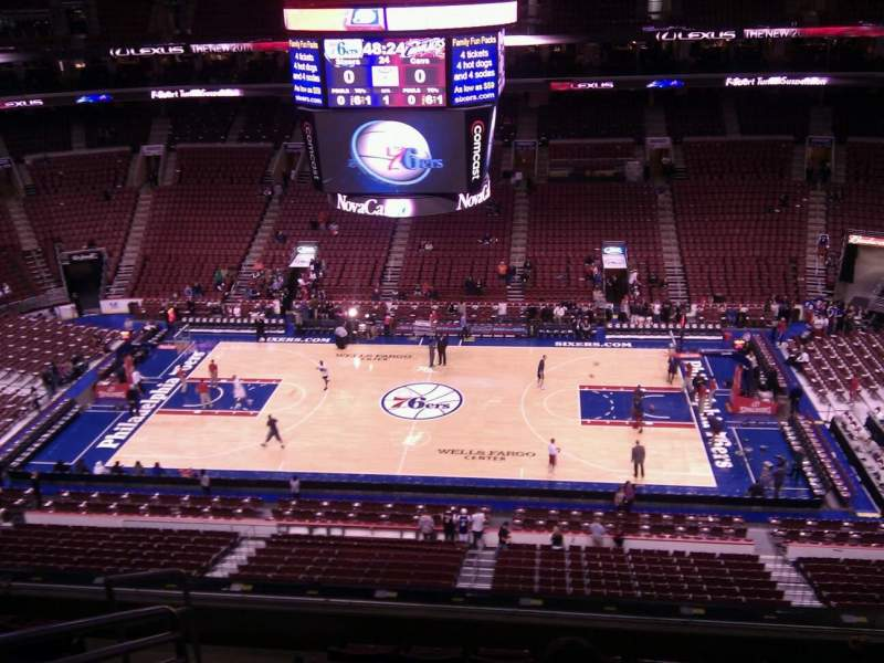 Seating view for Wells Fargo Center Section 214 Row 7 Seat 1