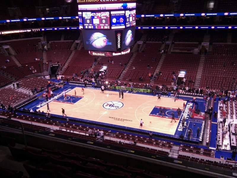 Seating view for Wells Fargo Center Section 215 Row 6 Seat 5